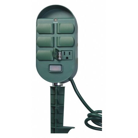 Outdoor 6 Outlet Yard Stake Timer/Remote Min. Qty 6 by USA Woods Electrical Plug In & Wall Switch Timers