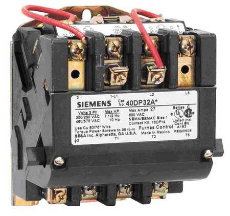 NEMA Magnetic Contactr 60A 208V NEMA2.5 by USA Siemens Electrical Motor Magnetic Contactors