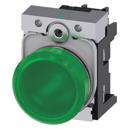 Pilot Light Complete Round Shape Green by USA Siemens Electrical Control Pilot Lights