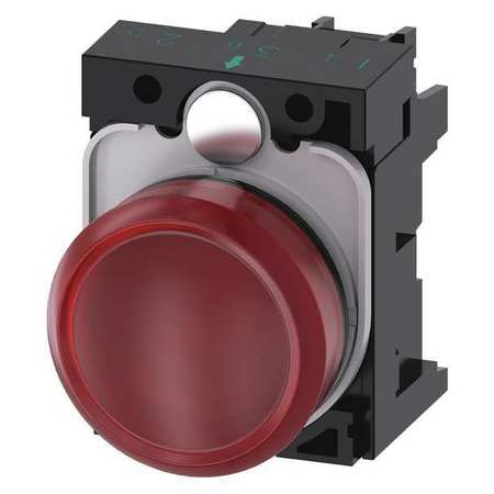 Pilot Light Complete Round Shape Red Model 3SU1102 6AA20 1AA0 by USA Siemens Electrical Control Pilot Lights
