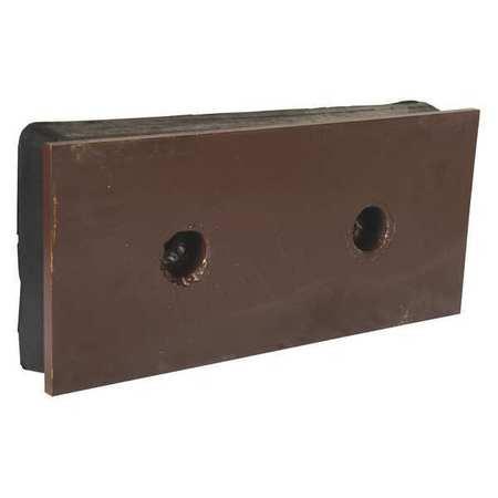 Vestil Steel Face Molded Rubber Bumper 2x18x8