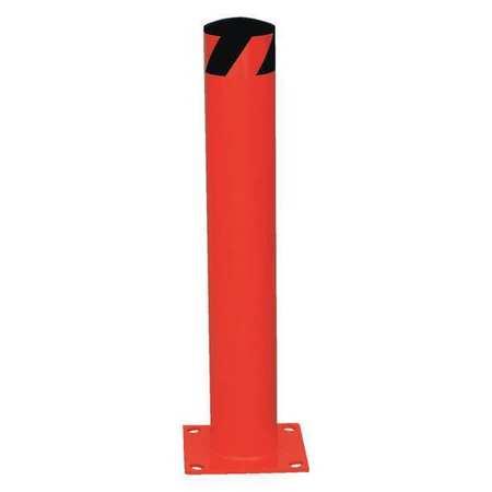 Vestil Steel Pipe Safety Bollard 24 x 4-1/2 Red