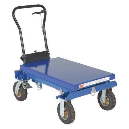 Vestil Pneumatic Tire Hydraulic Cart 600 lb.
