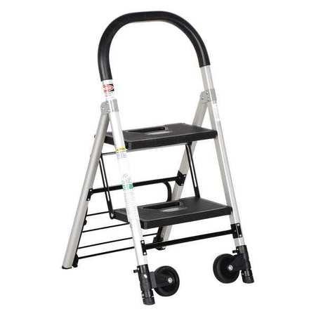 Vestil Alum Ladder Cart 2 Steps 300 lb.