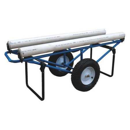 Vestil Rug Dispenser Pneumatic Wheels 25.94x61