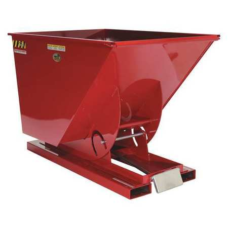 Vestil Self-Dump MD Hopper 2.5 cu. yd. 4K Red