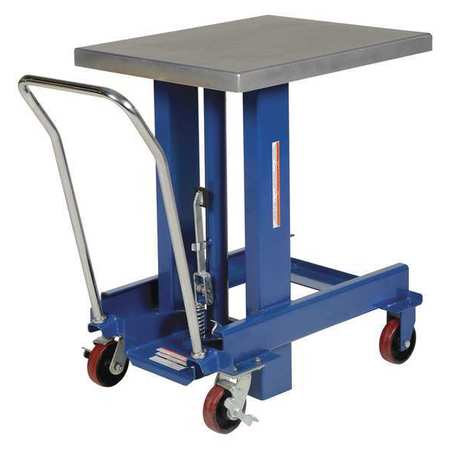Vestil Ergo Manual Chrome Platform Table 61