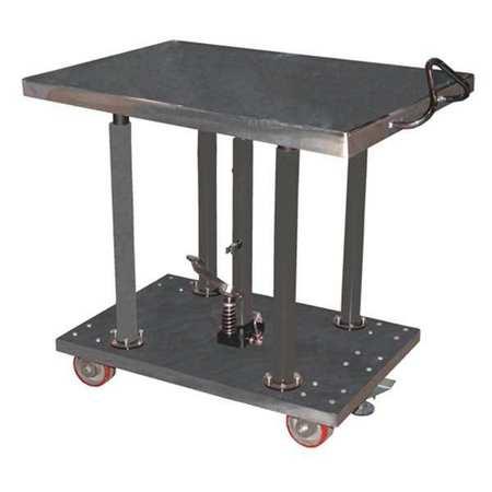 Vestil Hyd Post Table Partial SS 2K lb. 30 x 36