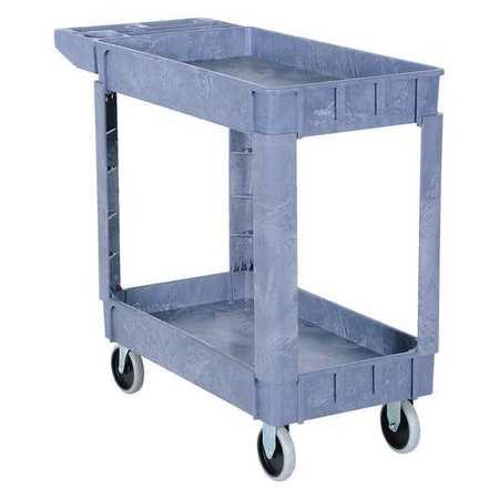 Vestil Plastic Utility Cart 2 Shelves 17.5 x 31