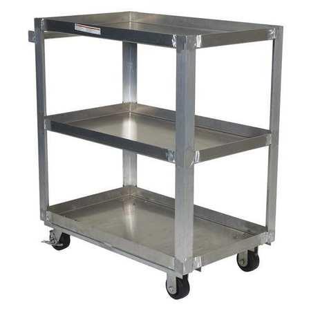 Vestil Aluminum Service Cart 3 Shelves 22x36