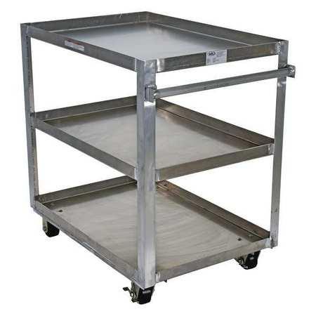 Vestil Aluminum Service Cart 3 Shelves 28x40