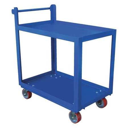 Vestil Steel Service Cart 2 Shelves 28 x 40