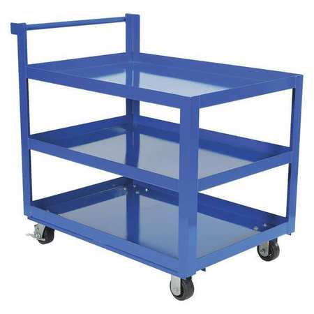 Vestil Steel Service Cart 3 Shelves 28 x 40