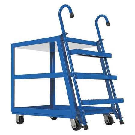 Vestil Stock Picker 3 Shelf 28 x 48 Poly/Steel