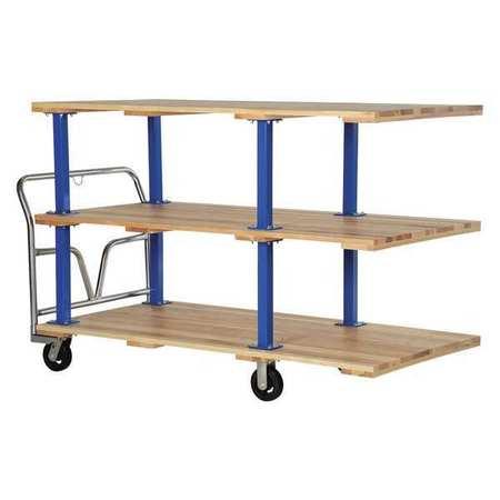 Vestil Triple Deck Hardwood Platform Cart 36x72
