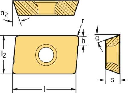 Walter Milling Insert ADKT10T3PER F56 WKP35S Min. Qty 10
