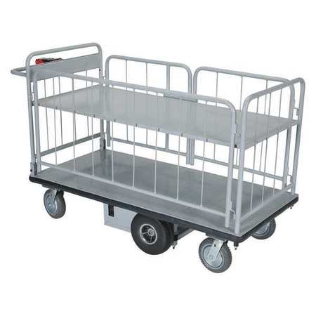 Vestil Elec Matl Hndl Cart Sides 2 Shelf 28x60