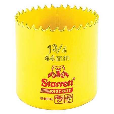 """Starrett Bi Metal Fast Cut Hole Saw 1 3/4"""" (44mm)"""