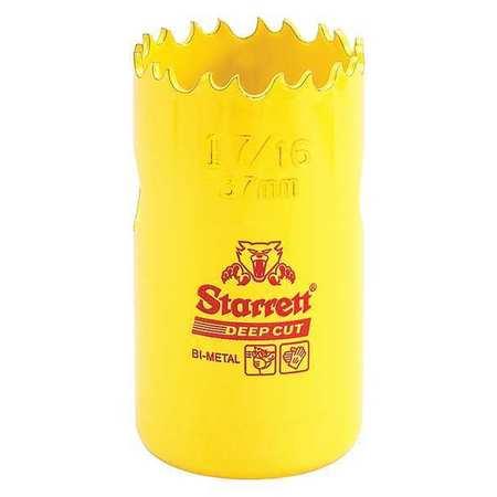 """Starrett Bi Metal Fast Cut Hole Saw 1 7/16"""" (37mm) Type DCH0176 G"""