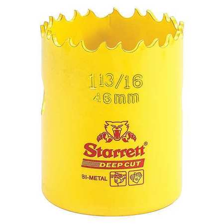 """Starrett Bi Metal Fast Cut Hole Saw 1 13/16"""" (46mm) Type DCH1136 G"""