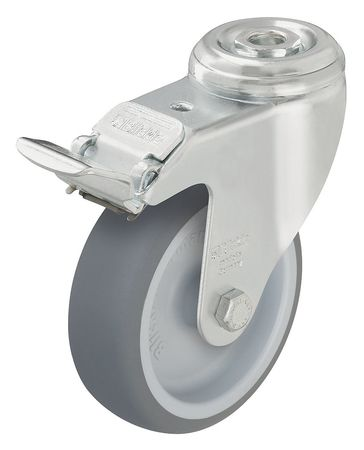 Value Brand Kingpin Swivel Caster Therm Rubber 5 in 265 lb