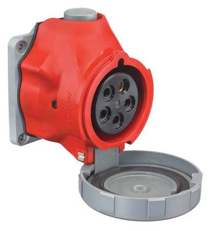 Pin and Sleeve Receptacle 277/480VAC Red by USA Hubbell Kellems Electrical Pin & Sleeve Receptacles