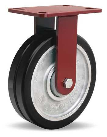 Value Brand Plte Caster Rgd Poly 8 in. 2500 lb. Blck