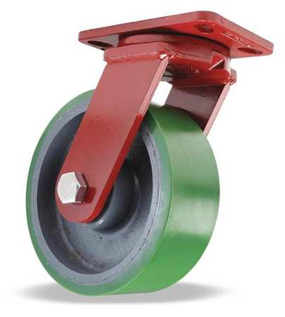 Value Brand Plate Caster Kingpinless Swivel Poly 8 in. 2500 lb