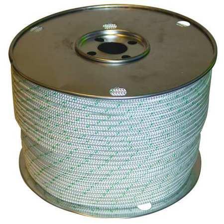Value Brand Rope 600ft Grn Tracer/Wht 3120lb Polystr
