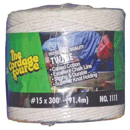 Value Brand Rope 300ft Wht 1lb. Cotton