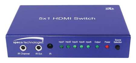 HDMI Switch 2 7/8inLx 4 3/8inWx1inH by USA Speco Audio Video Splitters Connectors & Adapters