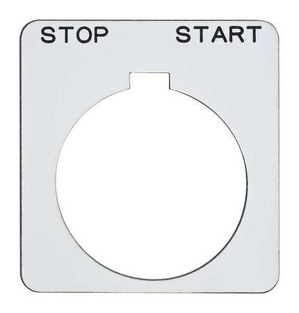 Legend Plate Square Stop Start White by USA Schneider Electrical Pushbutton Accessories