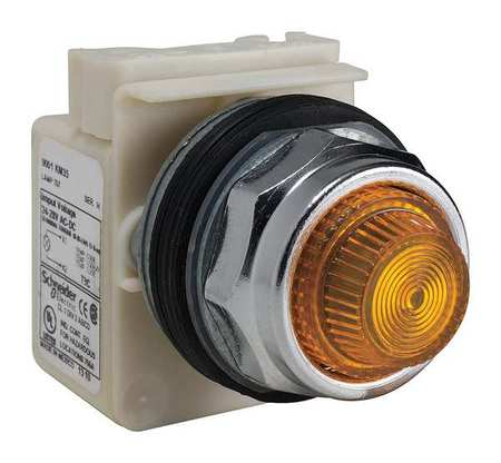 Pilot Light Incan Amber 24 28VAC/DC by USA Schneider Electrical Control Pilot Lights