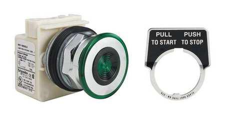 Illum Push Button Operator 30mm Green Model 9001KR9P38LG by USA Schneider Electrical Illuminated Pushbuttons