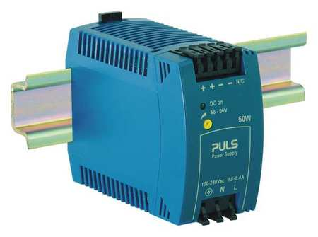 DC Power Supply Plastic 48 to 56VDC 50W by USA Puls Electrical AC DC Power Supplies