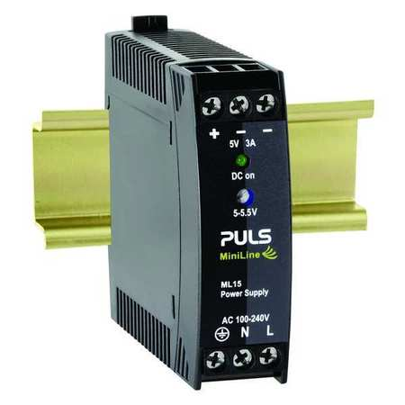DC Power Supply Plastic 5 to 5.5VDC 15W by USA Puls Electrical AC DC Power Supplies