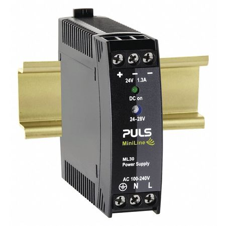 DC Power Supply Plastic 24 to 28VDC 30W by USA Puls Electrical AC DC Power Supplies