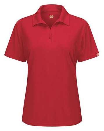 Short Sleeve Polo,womens,3xl,red,button