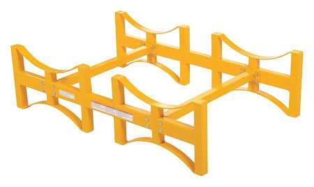 Vestil Drum Rack Yellow 1600 lb. 12-3/4 in. H