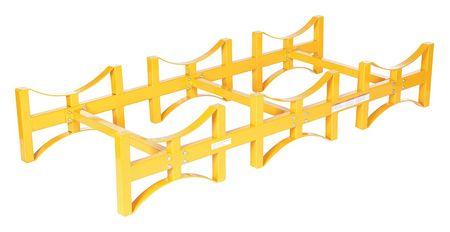 Vestil Drum Rack Yellow 2400 lb. 12-3/4 in. H