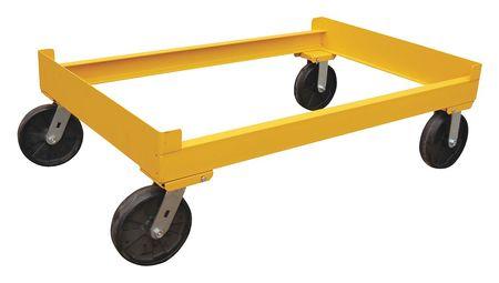 Vestil Drum Rack Cart Yellow 1600lb 14-9/16inH
