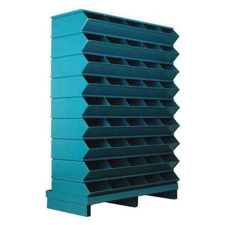 Sectional Bin Unit,45,blue,52 In. H
