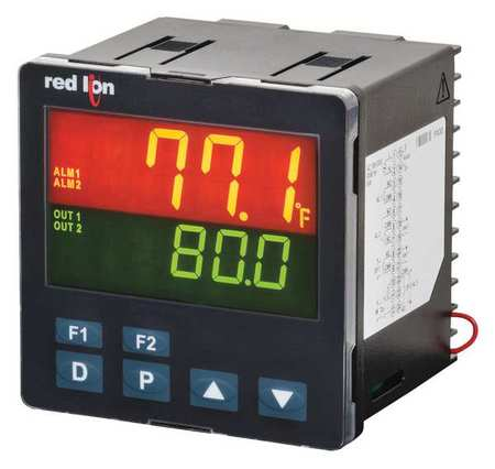 Temperature Controller 2.82 in.D 1/4 DIN by USA Red Lion Industrial Automation Temperature Controllers