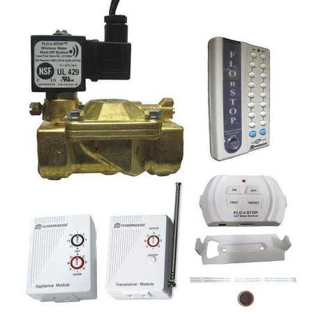 Flo N Stop Water Shutoff System Brass Valve 110v 22960