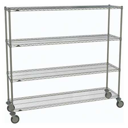 Metro Wire Cart Chrome 69in.H x 18in.W Silver