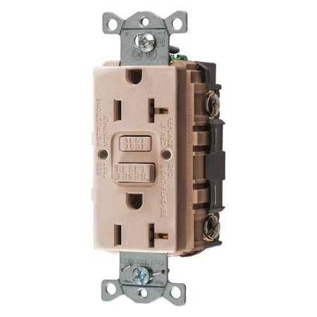 GFCI Rceptcle Commer. Almnd 20A 1 HP Model GFRST20AL by USA Hubbell Kellems Electrical GFCI Receptacles