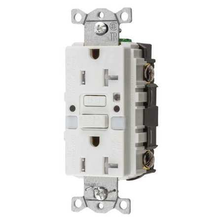 GFCI Rceptcle Commer. Wht 20A 1 HP by USA Hubbell Kellems Electrical GFCI Receptacles