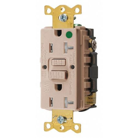 GFCI Receptacle 20A 125VAC 5 20R Almond by USA Hubbell Kellems Electrical GFCI Receptacles