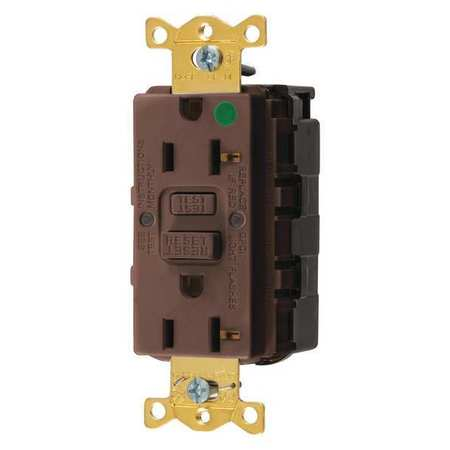 GFCI Rceptcle Hspital Brwn 20A 1 HP by USA Hubbell Kellems Electrical GFCI Receptacles