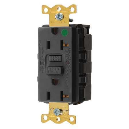 GFCI Rceptcle Hspital Blk 20A 1 HP by USA Hubbell Kellems Electrical GFCI Receptacles